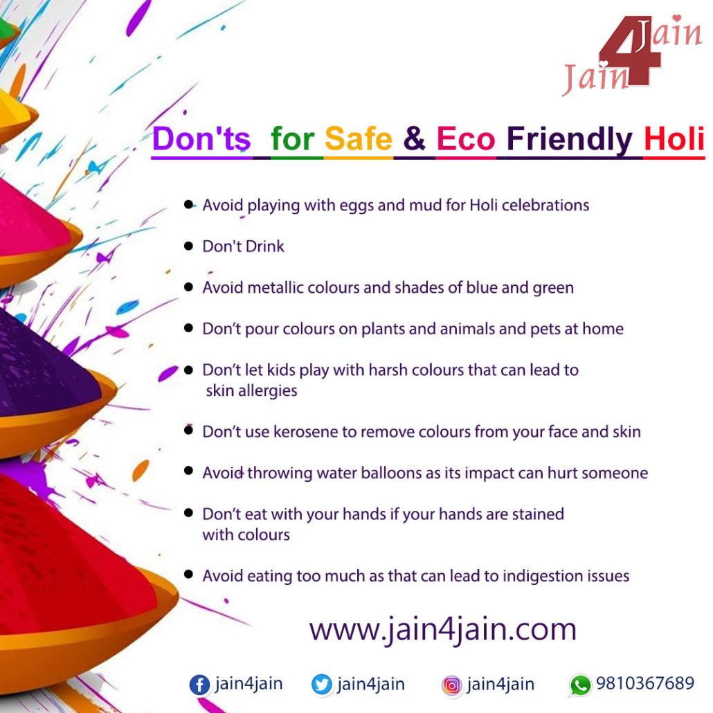 Don'ts for Safe and Eco-Friendly Holi