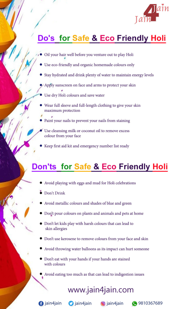 Dos And Don'Ts For Safe And Eco-Friendly Holi